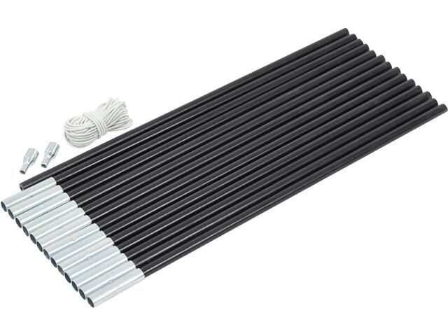 CAMPZ Glass Fibre Pole Set 13mm x 7,0m schwarz